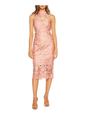 Bardot isa lace halter dress