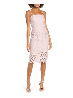 Bardot lina lace cocktail dress