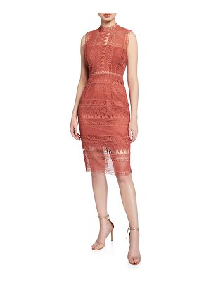 Bardot Mariana Sleeveless Lace Body-Con Dress