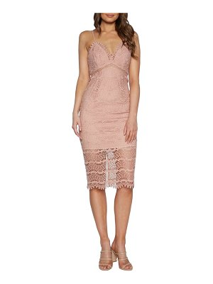 Bardot percy lace cocktail dress