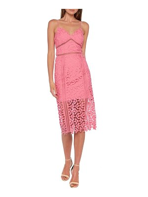 Bardot roxy sleeveless lace midi dress