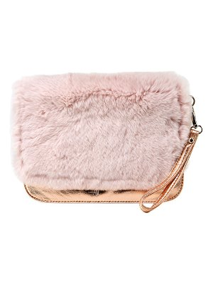 Bari Lynn Girls' Fur Clutch Bag