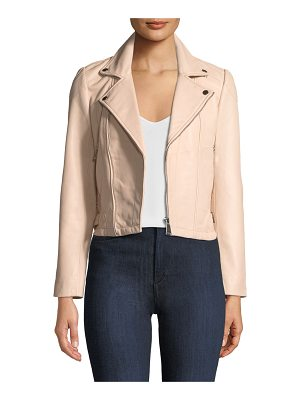 ba&sh Etty Leather Biker Jacket
