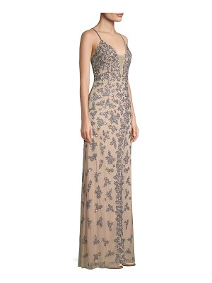 Basix Black Label embellished crossback slip gown