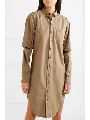 BASSIKE cutout cotton shirt dress