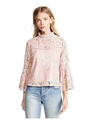 BB Dakota jack by  floral lace bell sleeve top
