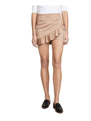 BB DAKOTA Jack Khan Faux Suede Skirt