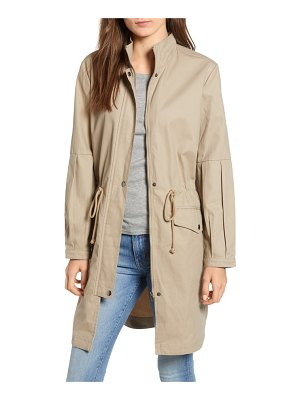 BB Dakota killer queen balloon sleeve twill coat