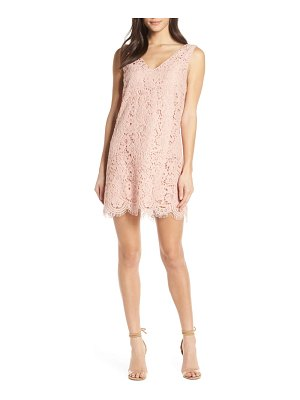 BB Dakota sleeveless lace shift dress