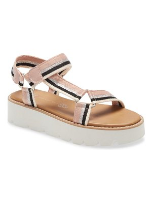 BC Footwear eye on the prize quarter strap platform sandal