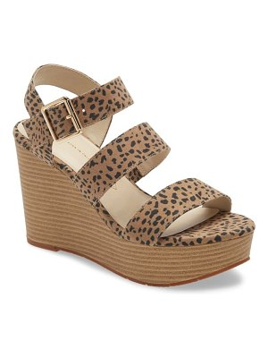 BC Footwear individuality vegan platform wedge sandal