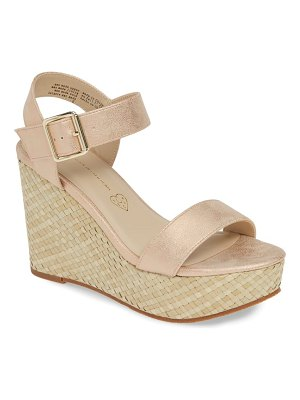 BC Footwear peonies vegan wedge sandal