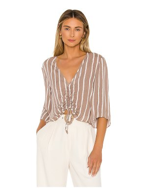 BCBGeneration ruched front blouse