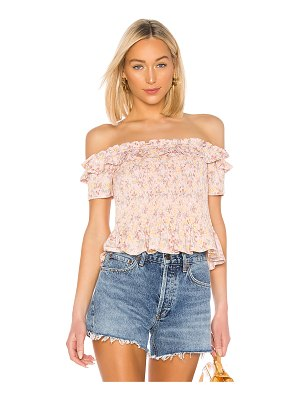 BCBGeneration smocked off shoulder top