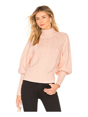 BCBGMAXAZRIA Cable Dolman Sleeve Sweater