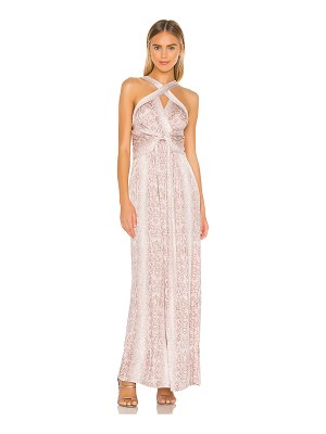 BCBGMAXAZRIA cross front maxi dress