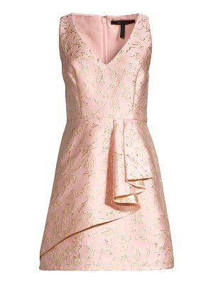 BCBGMAXAZRIA draped fit-&-flare dress