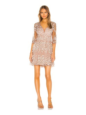 BCBGMAXAZRIA embroidered cocktail dress