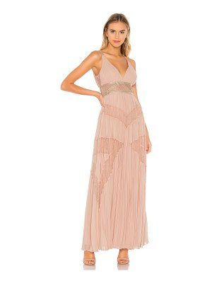 BCBGMAXAZRIA eve pleated gown