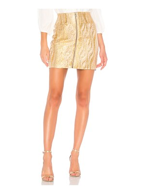 BCBGMAXAZRIA Metallic Mini Skirt