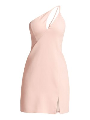 BCBGMAXAZRIA one shoulder mini sheath dress