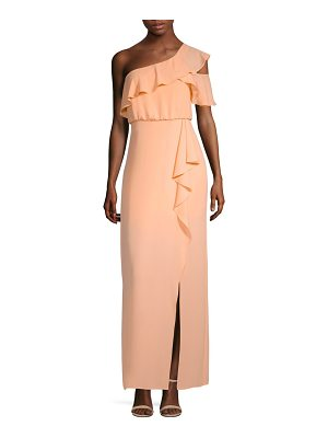 BCBGMAXAZRIA ruffle one-shoulder gown