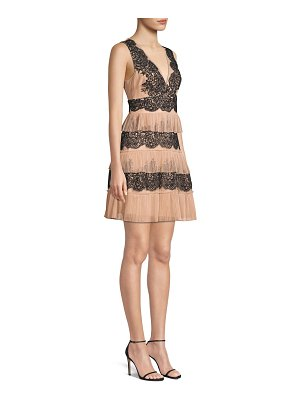 BCBGMAXAZRIA tiered lace dress