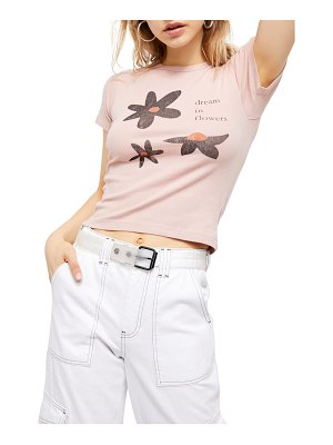 BDG Urban Outfitters dream in flowers baby graphic tee