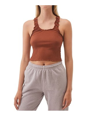 BDG Urban Outfitters lettuce edge ribbed camisole