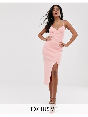 Bec & Bridge exclusive lea split midi dress-pink