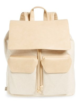 BEIS faux leather rucksack backpack