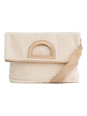BEIS the foldover faux shearling tote