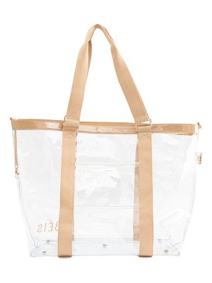 BEIS transparent beach tote