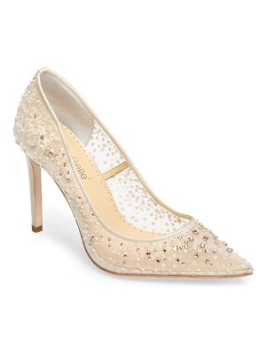 BELLA BELLE elsa beaded illusion pump