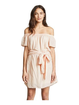 BELLA DAHL Belted Off Shoulder Dress