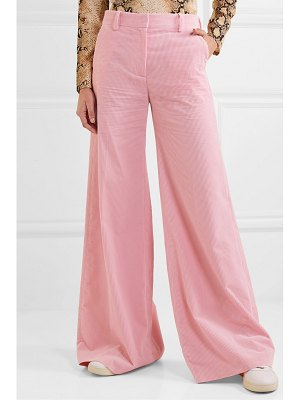 BELLA FREUD bianca cotton-corduroy wide-leg pants