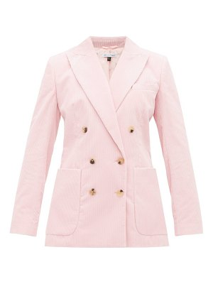 BELLA FREUD bianca double-breasted corduroy blazer