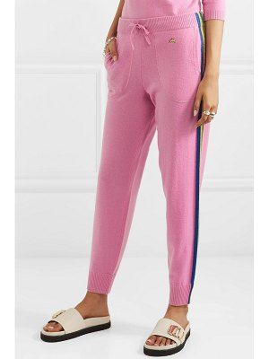 BELLA FREUD daytona sparkle metallic striped cashmere-blend track pants