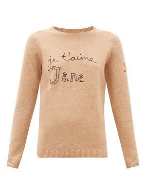 BELLA FREUD je t'aime jane wool blend sweater