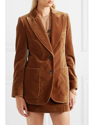 BELLA FREUD saint james wool-velvet blazer