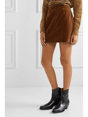 BELLA FREUD wool-velvet mini skirt
