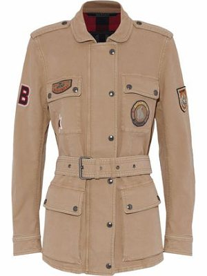 BELSTAFF Belted Appliquéd Cotton-