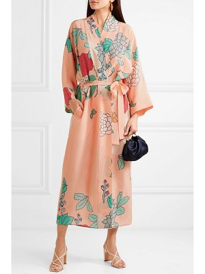BERNADETTE peignor belted printed silk crepe de chine wrap dress