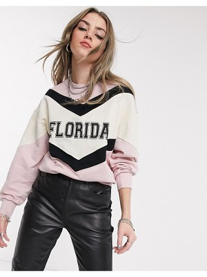 Bershka florida sweat in pink