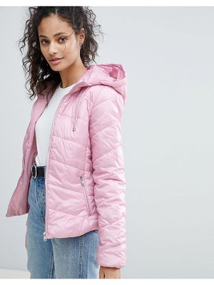 BERSHKA Hooded Puffer Jacket