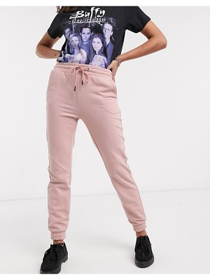 Bershka join life slim sweatpants in pink