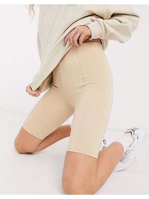 Bershka legging shorts in beige