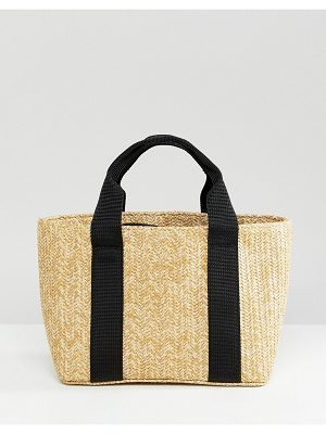 Bershka Mini Structured Straw Bag