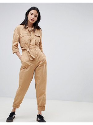 Bershka pocket front boiler suit
