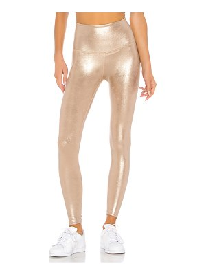 Beyond Yoga luxe featherette high waisted midi legging